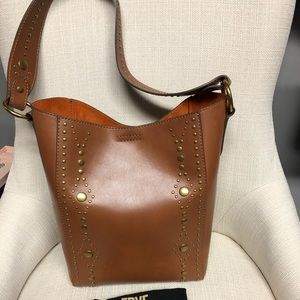Frye Studded Harness Bucket Tote Bag